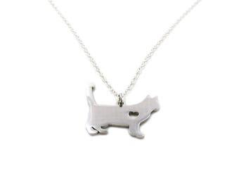 Cat Necklace, Cat Silhouette Necklace, Cat Jewelry, Kitten Necklace, Animal Necklace, Cat Lover Necklace, Cat Pendant, Cat Lover Gift