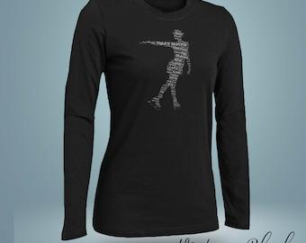 Figure Skating Word Cloud Art Long Sleeve T Shirt