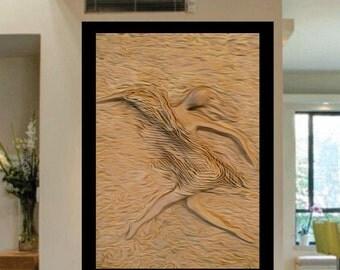 Ballet Dancer - Figurative painting ,abstract original, giclee print, wall art, original gift, mixed media, acrylic canvas painting ,modern