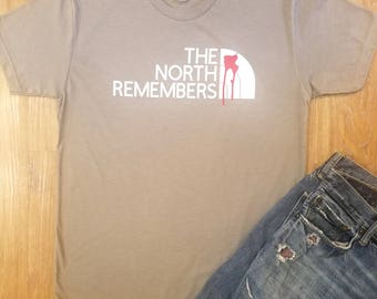 The North Remembers T shirt- Men's clothing. Men's T shirt, Graphic Tee- LovelyLittleArt