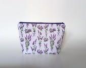 Medium Knitting Project Bag, Lavender Project Bag, Crafter Project Bag, Mauve Lavender Pouch