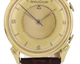 Jaeger-LeCoultre Memovox Alarm 18K Yellow Gold Watch