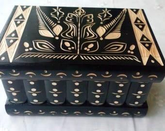 Big puzzle box magic box jewelry storage box secret box  black wooden case,beautiful trinket box,wooden toy for kids brain teaser treasure