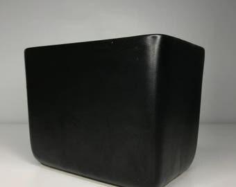 vintage ceramic matte black McCoy planter
