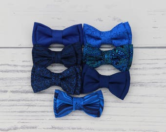 Bow Tie, Blue Bow Tie, Blue Bowties, Blue Ties, Blue Suit Ties, Royal Blue Bow Tie, Adult, Child & baby bowties, bow ties, dark blue bow tie
