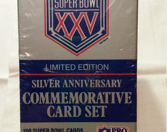 Superbowl XXV Commemorative Card Set