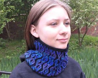Brioche Stitch Cowl Knitting Pattern