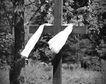 B & W Cross Digital Photo