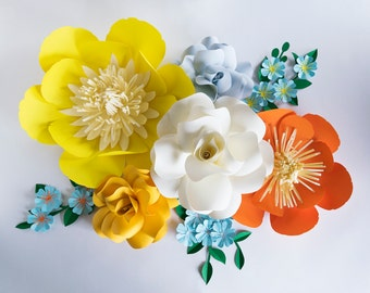 Paper Flowers Wall Decor / Paper Flowers / Paper Flower / Wall Flowers / Paper Wall Flowers / Paper Flower Wall Decor / Paper Flower Wall