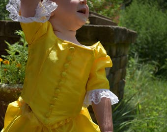 Peggy Schuyler Costume; Hamilton Gown; Girls Rococo Gown; Yellow Baroque Gown; Girl's Hamilton Costume; Marie Antoinette Gown; OUAT Gown