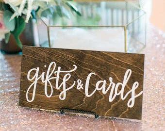 Gifts & Cards Wedding Sign, Wood Signage