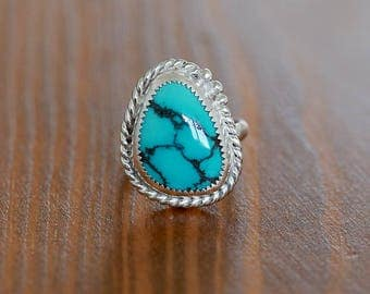 Turquoise Ring, Cloud Mtn Turquoise Ring,