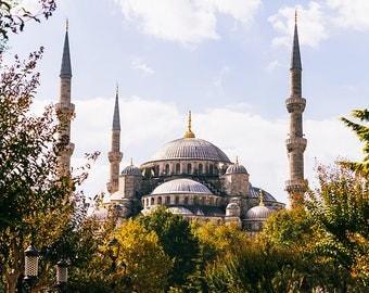 Photographie Fine Art de la mosquée Sultan Ahmet d'Istanbul en Turquie - Mosquée Bleu - Istanbul - Turquie