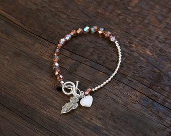 Praying Hands & Heart_Beaded Bracelet
