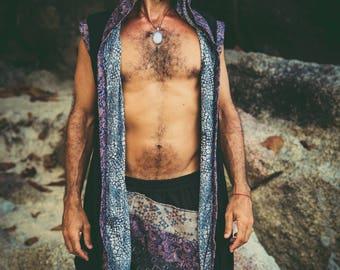 NEW Taika Warrior - Premium Impressive Burning Man Sleevess Cape Hoodie / Multi-use /  Bamboo and cotton mixture / VALO Design