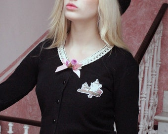 Otome Lolita Kawaii Girly Cardigan · Afternoon Tea Collection by Violet Fane