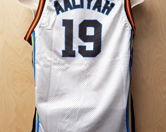 Bricklayers Aaliyah Jersey Basketball Uniform Rock N Jock Halloween Costume Shirt Haughton TV Game N' And Brick Layers 19 90's Gift Idea