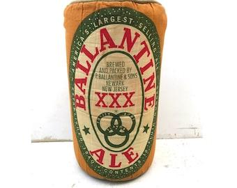 Ballantine Beer Pillow -- Ballantine Ale Pillow -- Vintage New Jersey -- New Jersey Pillow -- Newark Beer -- Beer Pillow -- Ballantine