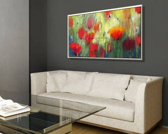 Canvas Painting Flower, Canvas Art for Office, Floral Wall Decor, Paintings on Canvas Floral Wall Art, Floral Painting Wall Art Office Decor