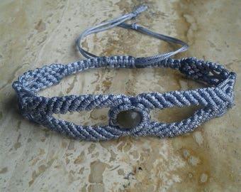 Macrame Bracelet with Labradorite Bead
