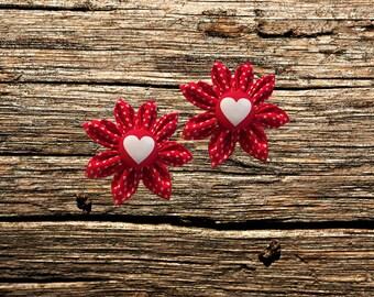 Valentine's Day Pet Collar Flower Accessories