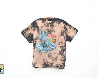 Custom Made Bleached Jeff Gordon Nascar T-Shirt