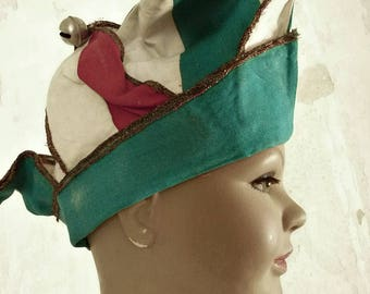 Incredibly beautiful antique dunce cap, cap and bells...CHARMANT!