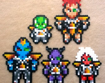 dragonball ginyu force perler magnets