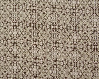 "Decorative Apparel Fabric, Flourish Print, Brown Fabric, Home Decoration, 44"" Inch Cotton Fabric By The Yard ZBC8752D"