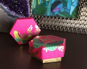 Small Hexagon Handmade Gift Box, Hexagon Gift Box, Hexagon Box