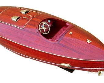 Wooden Classic Flyer Hydroplane Model Boat