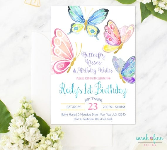 butterfly invitation butterfly birthday butterfly party