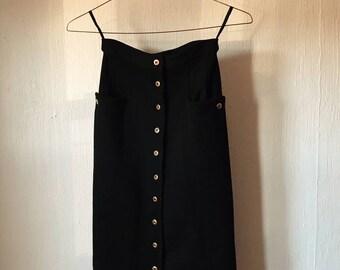 Black Stretch Pencil Skirt