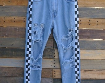 0475 - American Vintage - Street Styled - Checkered Pants