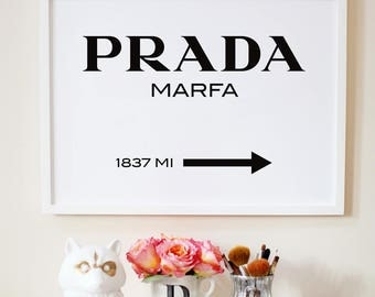 Marfa sign. Fashion poster. Gossip girl poster. Minimal print. Printable Marfa sign. Instant download
