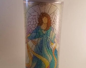 Gel Christmas Candle Angel Unscented Tea Light