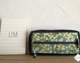 Clutch in velvet and liberty