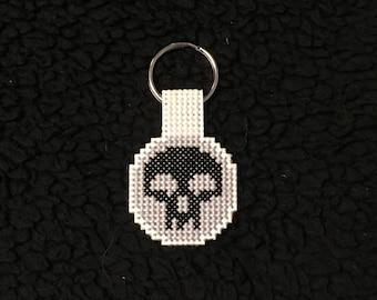 Cross Stitch Keychain: Magic the Gathering Black