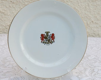 Vintage Crested China Side Plate by Bow China, Stoke on Trent - Duke of Argyll Crest - Islay