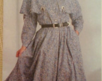 FF Simplicity 8729 Misses Western Dress in 2 Lengths pattern,  sizes 8 - 14
