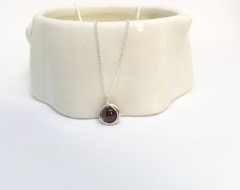 Garnet pendant etsy garnet necklace 925 sterling silver garnet pendant silver garnet necklace silver garnet pendant mozeypictures Image collections