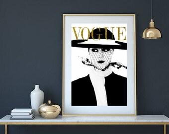 Buy 2 get 2 free, Vogue Cover Print, Vogue magazine, Vogue print, fashion illustration