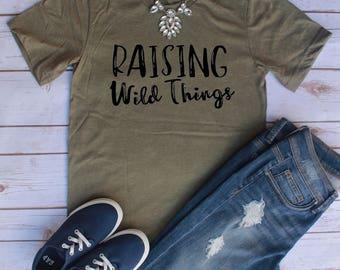 Raising Wild Things Shirt // Where the Wild Things Are // Wild Things Shirt // Mom Shirt