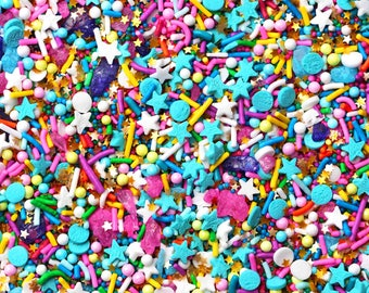 Big Vegan Birthday Sprinkle Blend, Fancy Sprinkles, Vegan Sprinkles, Birthday Sprinkles, Rainbow Sprinkles, Crunchy Jimmies, Edible glitter