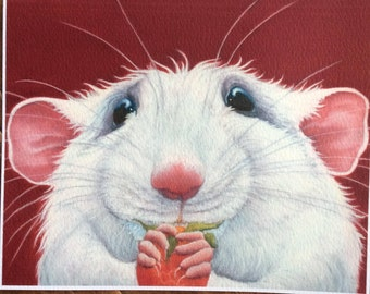 """rat painting """"Kevin"""""""