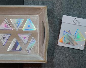 "Washi sticker ""Holographic triangles"""
