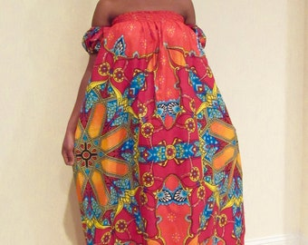 Ankara off Shoulder Maxi Dress