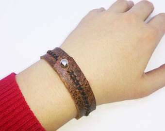 Genuine Leather Bracelet Crazy Horse Wristband
