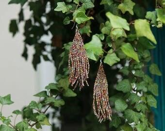 Forbidden fruit - beaded danglers