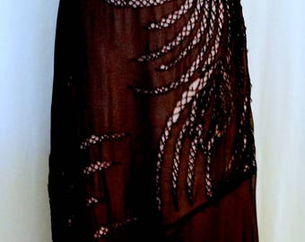 BCBG Vintage Sheer Dress